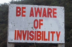 invisible sign